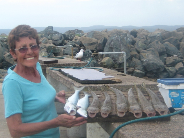 Mum with a good catch of flathead and taylor