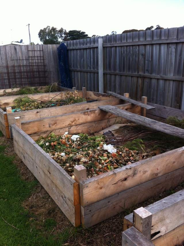 This building my beds- the organic material is from a travelling Jamie Oliver ministry of food van leftovers